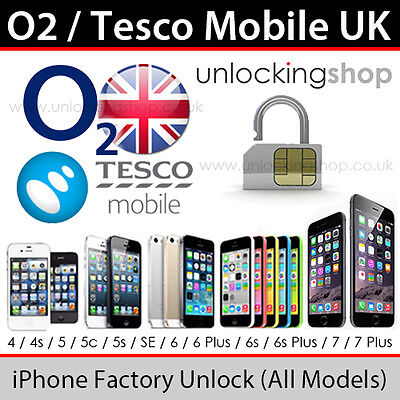 O2uk Tesco Mobile Iphone Factory Unlocking Service   All Models Upto 7 Supported