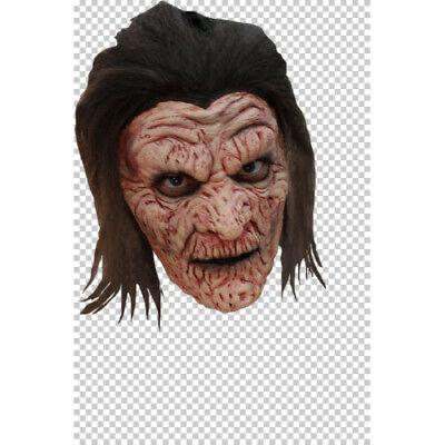Halloween Mummy Hair (Mummy Burnie Horror Latex Face Mask with Hair Fancy Dress Halloween)