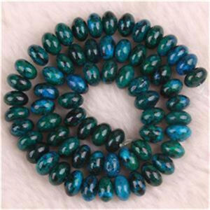 5x8MM Azurite Chrysocolla Abacus Loose Beads Gemstone 15''