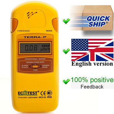 Dosimeter Terra-p Mks 05 Ecotest Radiometer Geiger Counter Radiation Detector
