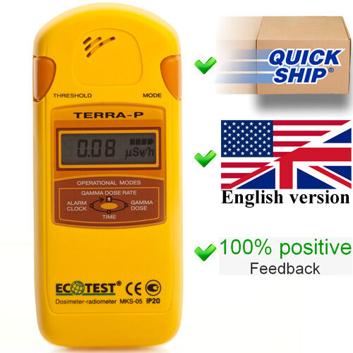Dosimeter Terra-P MKS 05 (Ecotest) Radiometer Geiger Counter Radiation Detector