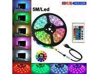 LED Strip Lights USB 5/3 meters RGB Color 5050 Light TV Lighting cars