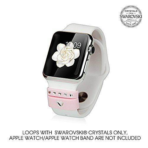 Loops for Apple Watch Series 1 - 2 with Swarovski Crystals Allure PINK