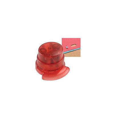 Made By Humans Staple Free Stapleless Stapler No Staples Office Translucent Red