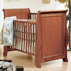 Natart Juvenile Joshua (Sleigh) Crib to Twin Convertible Crib