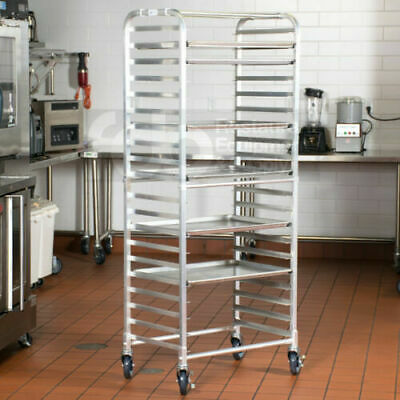 20 Pan Side Load Bun Commercial Dough Baking Full Sheet Pizza Bakers Bakery Rack