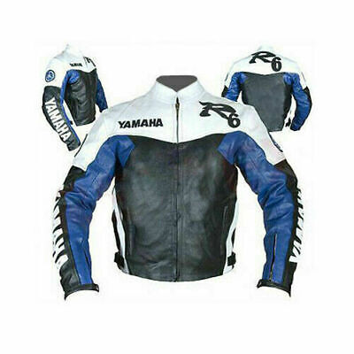 YAMAHA R 6 MOTORBIKE  LEATHER JACKET CE APPROVED FULL PROTECTION