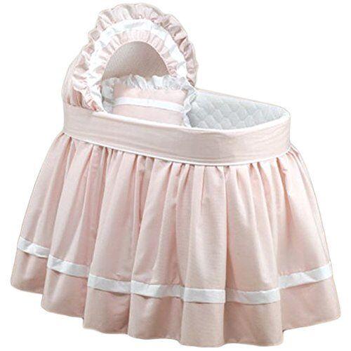 Dream On Me Babydoll Sweet Petite Bassinet Bedding Set, Pink