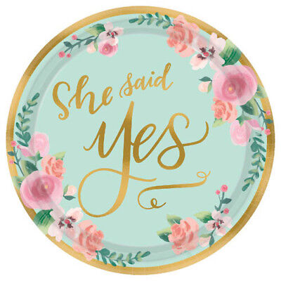 Wedding Cake Paper Plates (WEDDING AND BRIDAL Mint to Be SMALL PAPER PLATES (8) ~ Party Supplies Cake)