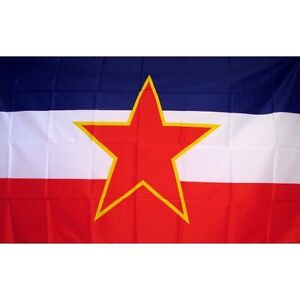 Yugoslavia Country Flag Banner Sign 3' x 5' Foot Polyester Grommets
