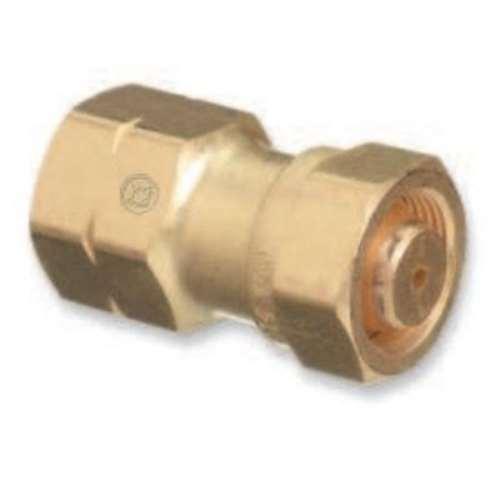 Western Enterprises Brass Cylinder Adaptor, CGA-520 B Tank Acetylene x CGA-510