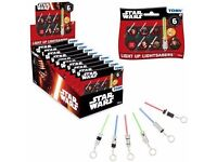 NEW 100% OFFICIAL STAR WARS Light Up Key Chain Sabers Lightsaber 1 BOX - 12 PACK (2 Boxes Available)