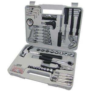 141 PIECE PRO COMPLETE TOOL KIT + CASE Screwdriver Socket Hammer Tool Set - NEW