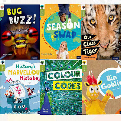 Oxford Reading Tree inFact: Level 7, 6 Books Collection Set (Our Class Tiger)
