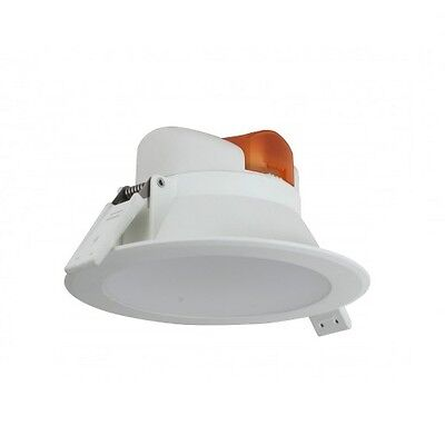 7W White PVC LED Downlight 3000K WW IP44 220-240v Outdoor Soffit SPVC7WWHWW