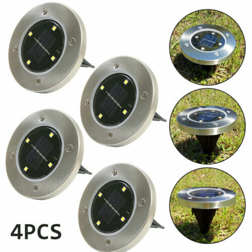 3er Set LED Solar  Solarlampe Edelstahl Bodeneinbau  Quadrat anthrazit SEL07 WOW