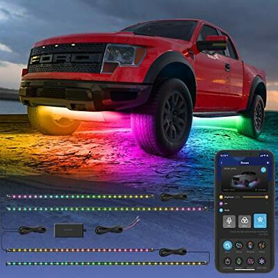 Govee Exterior Car LED Lights, RGBIC Underglow Car Lights with App and Remote Co