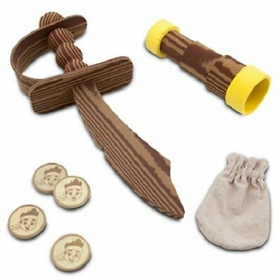 Jake Costume Accessory Set Foam Sword, Spyglass, Golden Doubloons, Canvas pouch - Jake Foam Sword