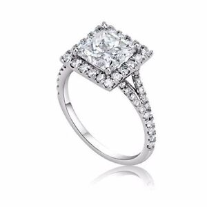 3.00 CT PRINCESS CUT SI1 DIAMOND SOLITAIRE ENGAGEMENT RING