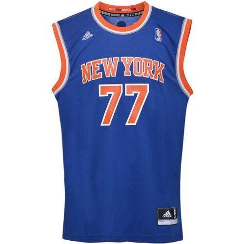 Abbigliamento sportivo uomo Canotta basket uomo ADIDAS New York Bargnani blu