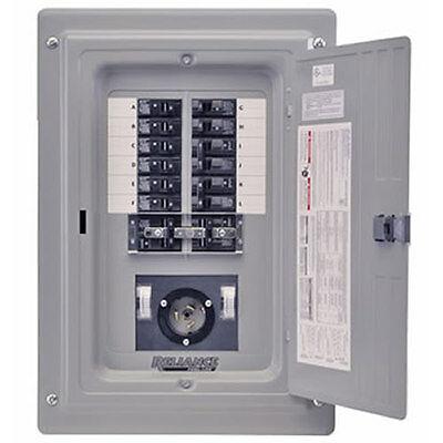 Indoor Transfer Panel - Reliance Controls 100-Amp Prewired Indoor Transfer Panel w/ 30-Amp Inlet