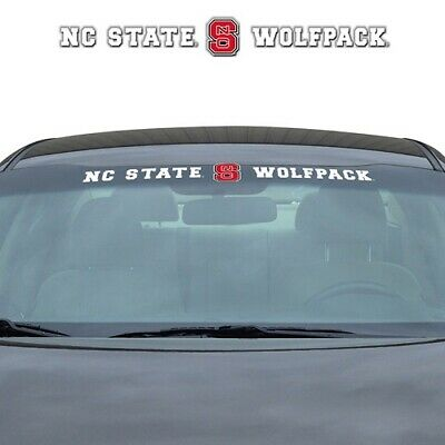 NCAA North Carolina State University Wolfpack VINYL WINDSHIELD DECAL college car North Carolina State Wolfpack Car