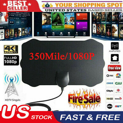 350 Mile Range Antenna TV Digital HD Skywire Antena Digital