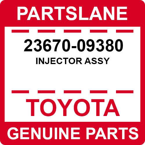 23670-09380 Toyota Oem Genuine Injector Assy