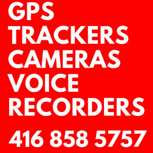 GPS TRACKER Markham Toronto VOICE RECORDER SECURITY CAMERA