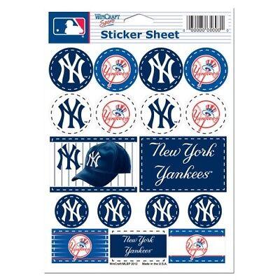New York Yankees Vinyl Die-Cut Sticker Set / Decal Sheet *Free Shipping