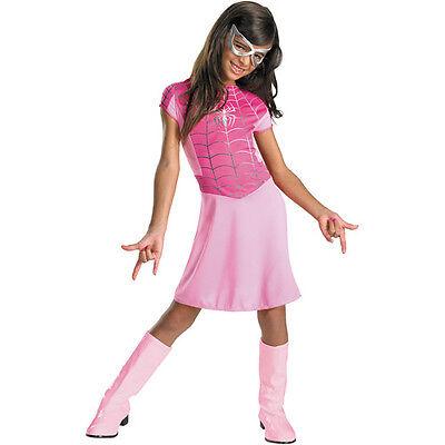Amazing Spider-Man Spinne Mädchen Kinder Kostüm Marvel Comics Größe 7-8 Pink (Spiderman Kostüme Mädchen)