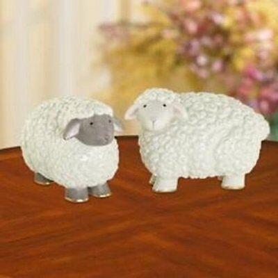 LENOX ~ SHEEPY SHEEP ~ Salt and Pepper Shakers Set   NIB