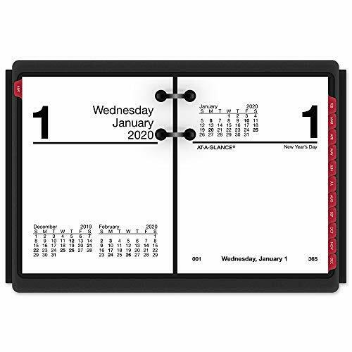 "AT-A-GLANCE 2020 Daily Desk Calendar Refill, 3"" x 3-3/4"", Pocket Size 2, Loos..."