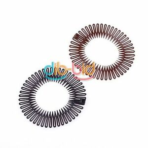 Hot 3PCS Flexible Stretch Comb Circle Hair Band Teeth Headband Clip EB