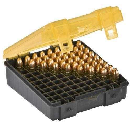 Ammo Bullet Case Box Storage 100 Count Handgun Gun Pistol for 357 & 38 Ammo