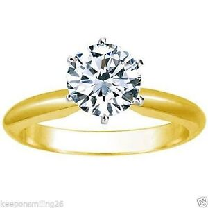 1.01ct solitaire ladies diamond ring. SI1 clarity H color.