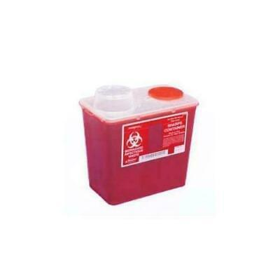 Kendall Monoject Sharps Disposable Container Red 4 Quart