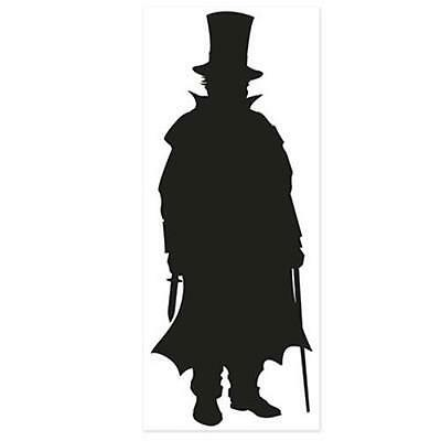 Villain Silhouette Halloween Wall Indoor Outdoor Use Door Paper Party Decor