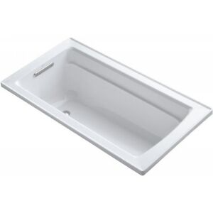 Kohler K-1123-0 Archer 5' Drop-In Bathtub with Comfort Depth White