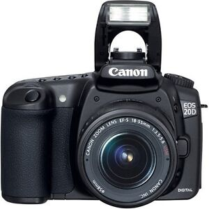 Canon EOS 20D with extra battery, charger and 17-85mm lens