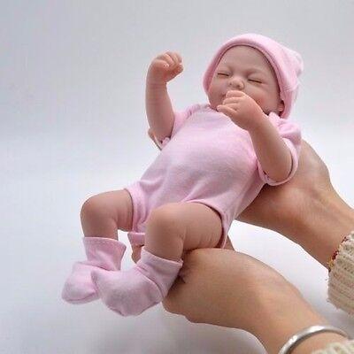Handmade Real Looking Newborn Baby Vinyl Silicone Realistic Reborn Doll Girl