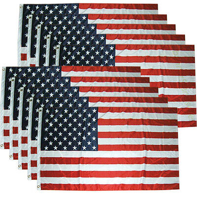 Wholesale lot 10 qty 3x5 ft USA US American Flag Stars Grommets United States b
