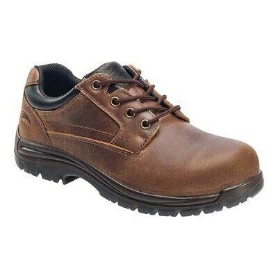 Avenger Men's   A7116 Composite Toe EH Slip Resistant Oxford Brown Full Grain Toe Slip Resistant Oxford