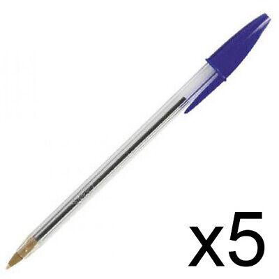 Promoción ~ BiC Cristal bolígrafos, sin presión mecánica, 5 unidades, azul