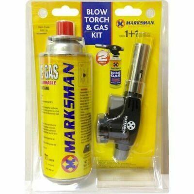 BLOW TORCH & GAS KIT Welding Tool Craft Soldering Ignition Butane Gas Set