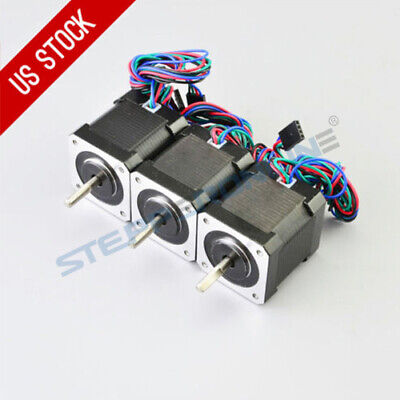 Us Free Shipping 3pcs 84oz.in59ncm Nema 17 Stepper Motor 3d Printer Cnc Robot