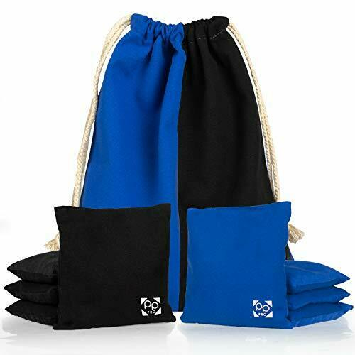 Professional Cornhole Bags - Set of 8 All Weather Two Sided Bean Bags 17 Colors