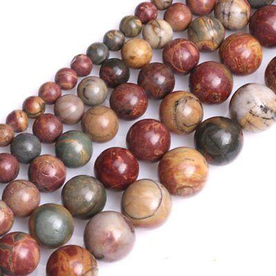 Natural Picasso Jasper Gemstone Round Beads For Jewelry Making 15