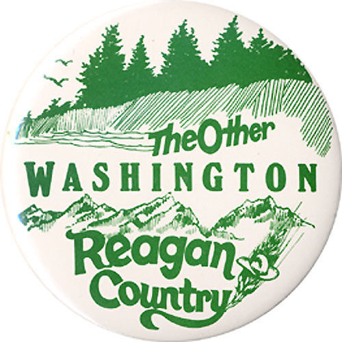 Scarce 1980 Ronald Reagan THE OTHER WASHINGTON State Campaign Button