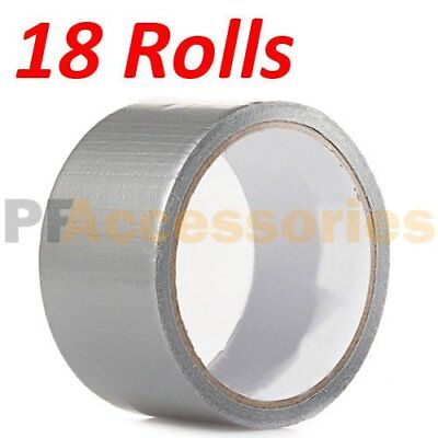 18 Rolls 30 Ft X 1.88 Industrial Utility Craft Hardware Duct Tape Silver Lot 18